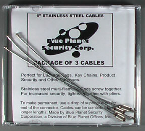 3 Stainless Steel Cables in Retail Package